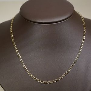 """10KY Gold 22"""" Cable Chain"""